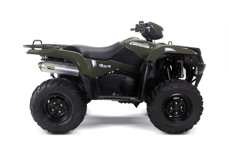 2008 2013 suzuki king quad 750 two brothers racing slip on. Black Bedroom Furniture Sets. Home Design Ideas