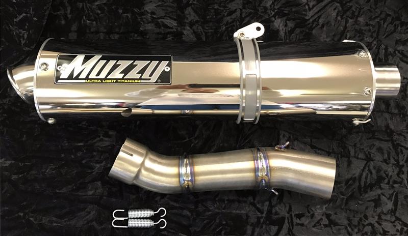 2004-2005 kawasaki zx10r muzzy oval performance slip on exhaust