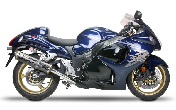 2008-2019 Suzuki GSX-R Hayabusa Two Brothers Racing SLIP On Exhaust System  Standard Gold Series - Dual Canisters