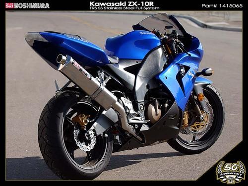 2004-2005 Kawasaki Ninja ZX10R Yoshimura TRS Slip-on Exhaust