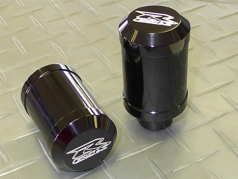2001-2003 Suzuki GSXR600 Black Anodized Frame Sliders with Custom ...