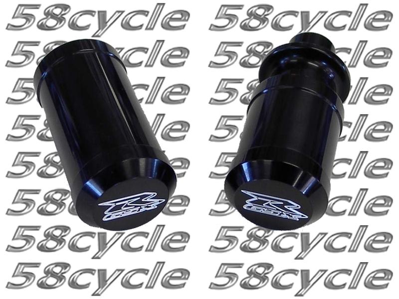 2004-2005 Suzuki GSXR600 Black Anodized Frame Sliders with Custom ...