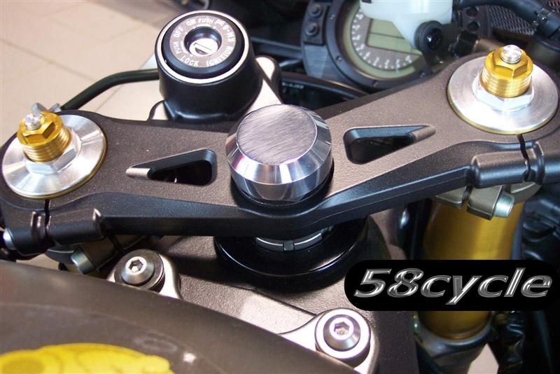 2007 2008 Kawasaki Zx6r Custom Polished Original Triple Tree Cap
