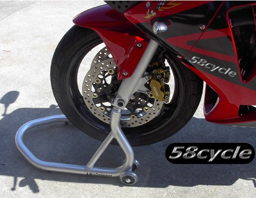 Aluminum Motorcycle Front Wheel Race Stand