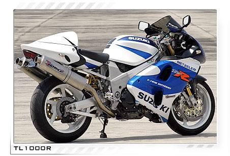 1998 2003 Suzuki Tl1000r Tiforce Titanium Full Exhaust System 700