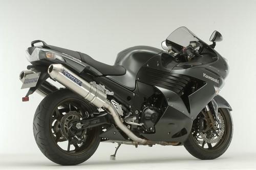2006-2007 Kawasaki ZX14 TiForce Titanium Dual Slip On Exhaust System ...