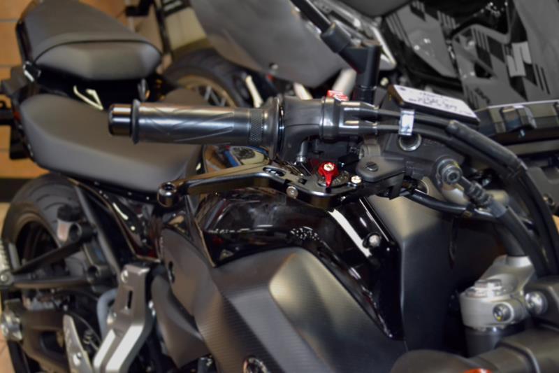 Hotbodies Racing Yamaha FZ-07 / FZ07 / FZ7 / FZ-09 / FZ09 / FZ9 (2014-2018)  MGP Brake & Clutch Levers - Lever Set - Black (81401-2600)