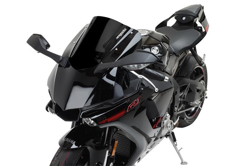 Hotbodies Racing Yamaha Yzf R1 M 2015 2019 Gp Windscreen Dual Radius Solid Black 81501 1603