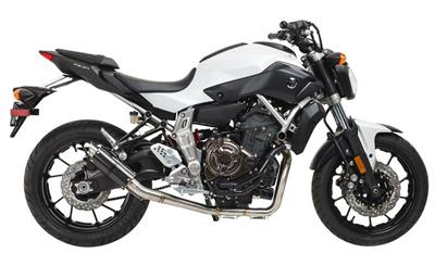 Hotbodies Racing: Yamaha FZ-07 / FZ07 / FZ7 (2014-2017) MGP Exhaust - Full System Carbon Fiber Canister (81401-2400) 2014 2015 2016 2017