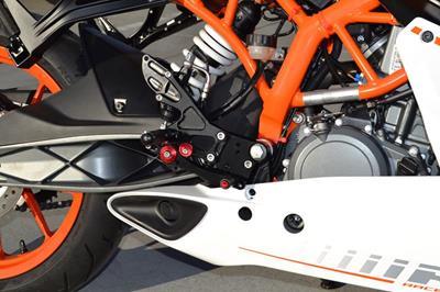 Hotbodies Racing KTM RC390 (non-cup) / DUKE 390 (2014-2017) MGP RearSets - Black (91401-2500)