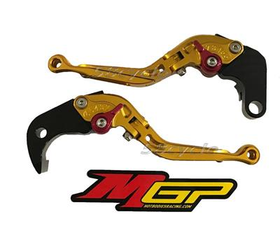 Hotbodies Racing Suzuki GSX-S 750/Z (2015-2016) MGP Brake & Clutch Levers - Lever Set - Gold (61501-2610)