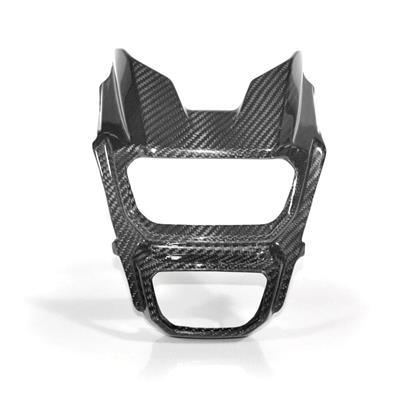 Hotbodies Racing Honda MSX125 Grom (2017-2019) Carbon Fiber Front Headlight Cover (41702-1503)